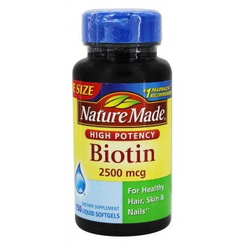 Витамин биотин Made Biotin Softgels Nature, 2500 мг 150 капсул