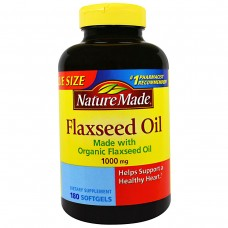 Льняное масло Nature Made Flaxseed Oil, 1000 мг 180 капсул