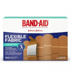 Пластырь бактерицидный Band-Aid Flexible Fabric, 100 штук