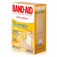Пластырь бактерицидный Band-Aid With Neosporin Bandages, 20 штук