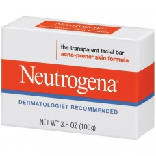 Очищающее гипоаллергенное мыло для лица Neutrogena Transparent Facial Bar, Acne-Prone Skin Formula Soap, 100 г