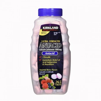 Таблетки от изжоги  Kirkland Signature Chewable Ultra Strength Antacid/Calcium Supplement 265 таблеток