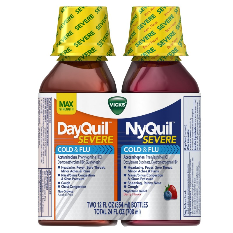 Dayquil be taken for two weeks before