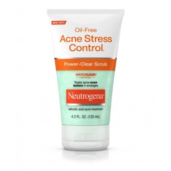 Neutrogena Oil-Free Acne Stress Control, Power Clear Scrub, 4.2oz Скраб для лица