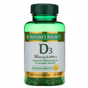Nature's Bounty Vitamin D3 50 mcg (2,000 МЕ) Витамин Д3 350 капсул