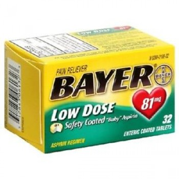 Bayer Aspirin Low Dose Аспирин 81 мг 32 таб