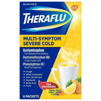 Сироп от простуды TheraFlu Multi-Symptom Severe Cold 6 пак.