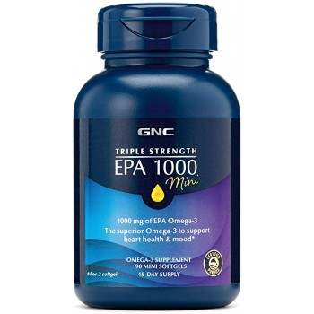 GNC Triple Strength EPA 1000 mini 90 гелевых капсул