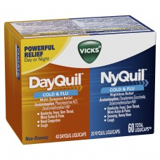 Капсулы от простуды и гриппа Vicks DayQuil & NyQuil, 60 капсулы