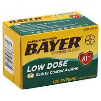 Bayer Aspirin Low Dose Аспирин 81 мг 120 таб