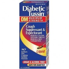 Сироп от кашля для диабетиков DM Max Strength Cough Suppressant & Expectorant Diabetic Tussin, 118 мл
