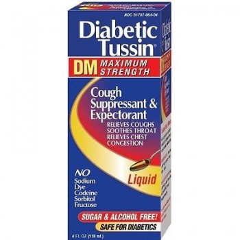 Diabetic Tussin DM Max Strength Cough Suppressant & Expectorant Диабетическая микстура от кашля
