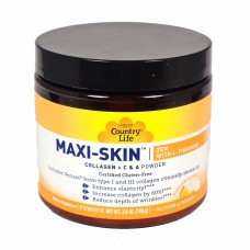 БАД для кожи, волос и ногтей Maxi Skin Zen L-theanine Collagen Powder Country Life  100 грамм
