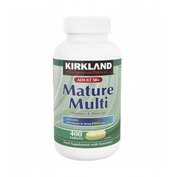 БАД Adult 50+ Mature Multi Vitamins & Minerals Kirkland Signature, 400 таблеток