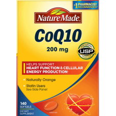Nature Made Coq10 Naturally Orange Коэнзим Q10 200мг 140капс