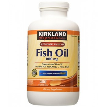 БАД  Omega-3 Fish Oil Kirkland Signature 1000 мг 400 штук