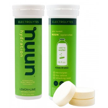 БАД витаминов Hydration Electrolyte Drink Tablets Lemon Lime Nuun с витамином С для спортсменов 93 г