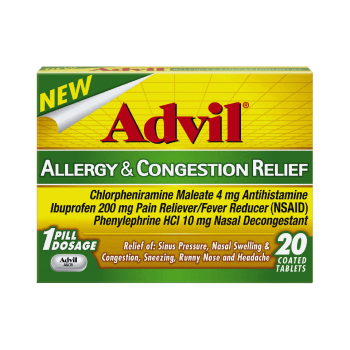Advil Allergy & Congestion Relief от аллергии 20 шт