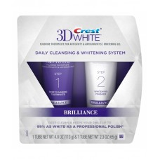 Зубная паста отбеливающая Crest 3D White Brilliance Daily Cleansing Toothpaste and Whitening Gel System 113 г и 65 г