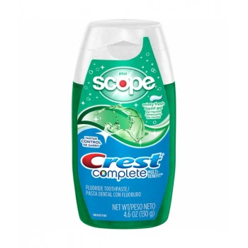 Crest Complete Scope Multi-Benefit Whitening Minty Fresh Flavor Liquid Gel Отбеливающая зубная паста-гель 130г