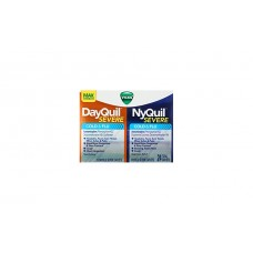 Vicks DayQuil & NyQuil SEVERE Средство для лечения простуды и гриппа 24 капсулы