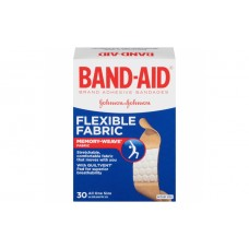 Band-Aid Flexible Fabric Пластырь антисептик 30 шт.
