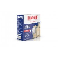 Band-Aid Sheer Strips Пластырь антисептический 80 шт.