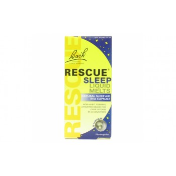 Bach Original Flower Remedies Rescue Sleep Liquid Melts Натуральное снотворное 28 капс