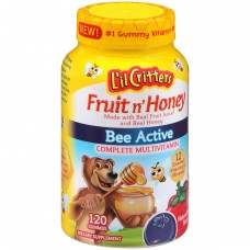 Витамины жевательные Vitafusion Lil Critters Fruit n Honey Bee Active Complete Multivitamin Gummies 120 штук