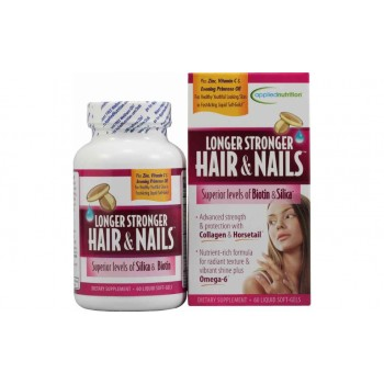 Applied Nutrition Longer Stronger Hair & Nails Biotin Silica Collagen комплекс витаминов для женщин