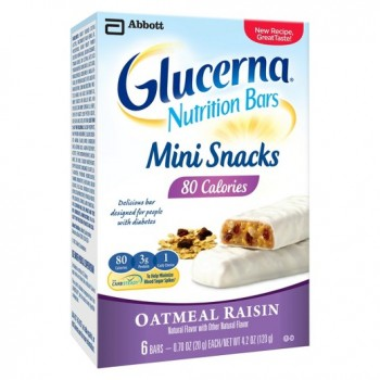 Glucerna Nutrition Bars Mini Snacks Oatmeal Raisin Батончики для диабетиков