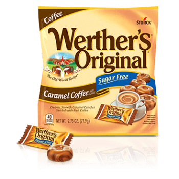 Storck Werther's Original Sugar Free Caramel Coffee Hard Candy Конфеты драже без сахара